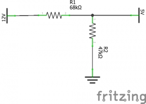 Voltage divider with very high resistance